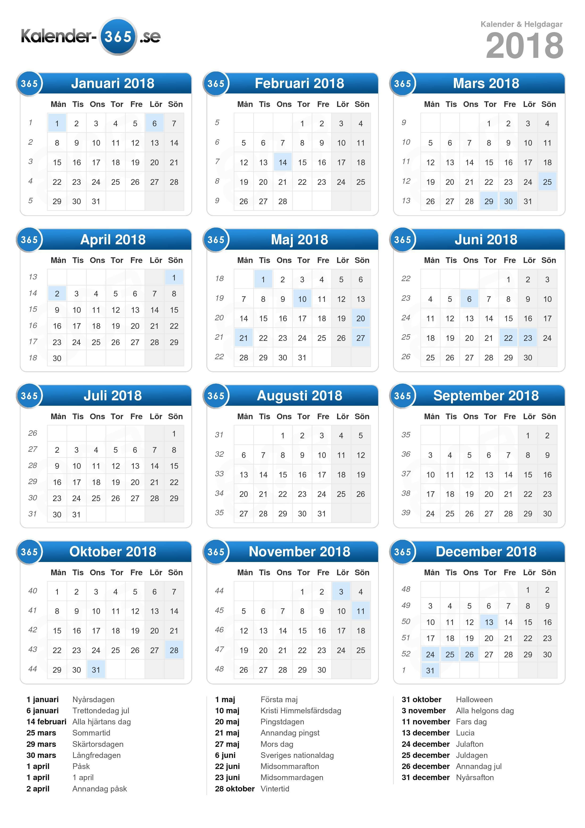 kalender 2017 sverige