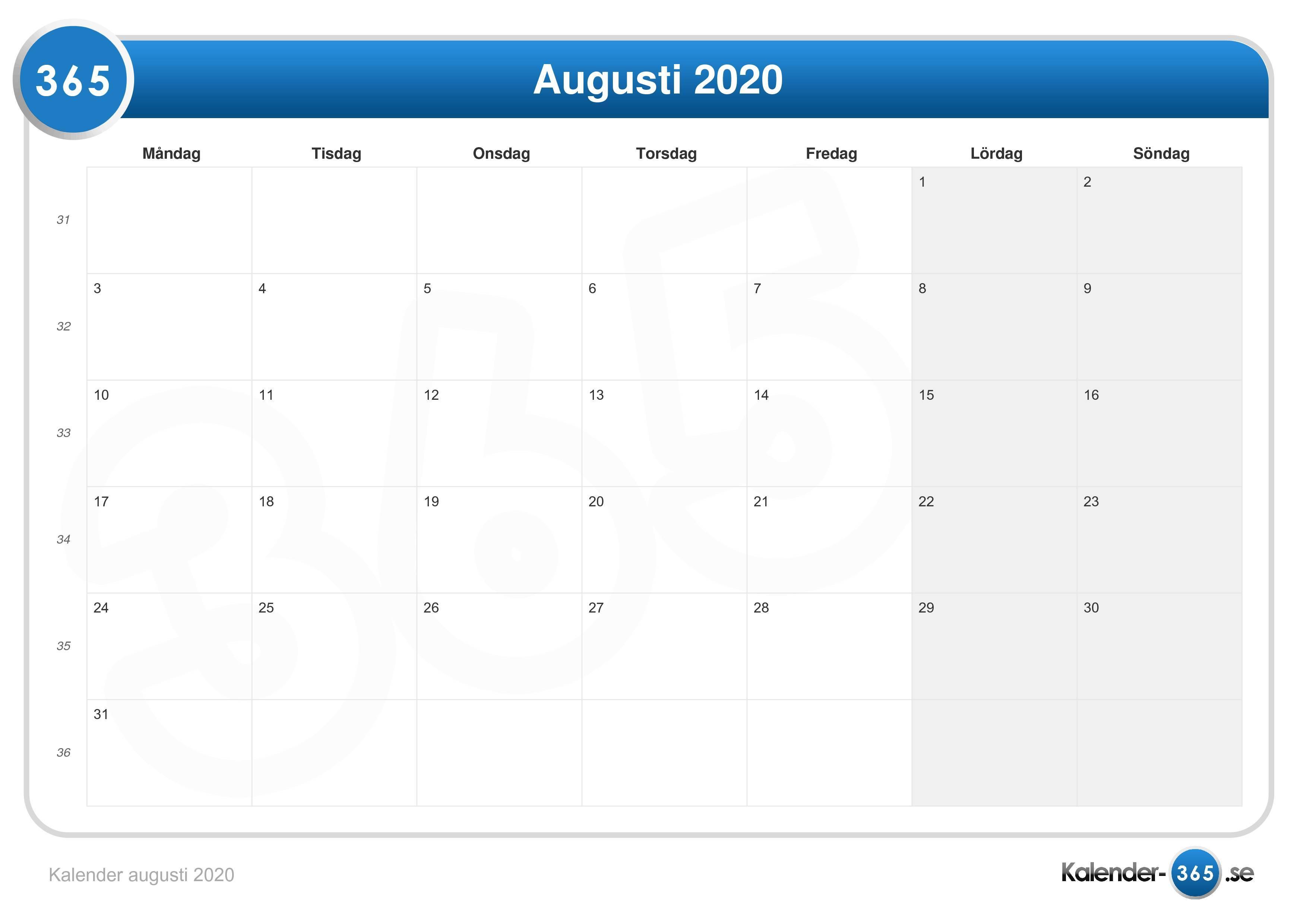 Horoskop augusti 2020